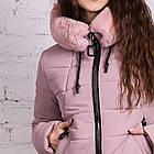 Нежное женское полупальто с экомехом зима 2019 - (модель кт-379), фото 2