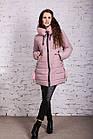 Нежное женское полупальто с экомехом зима 2019 - (модель кт-379), фото 3