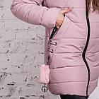 Нежное женское полупальто с экомехом зима 2019 - (модель кт-379), фото 4