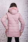 Нежное женское полупальто с экомехом зима 2019 - (модель кт-379), фото 5
