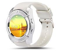 Cмарт часы телефон Smart Watch V8 белый