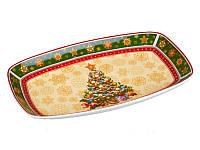Блюдо глубокое с елочкой 30 см Christmas Lefard
