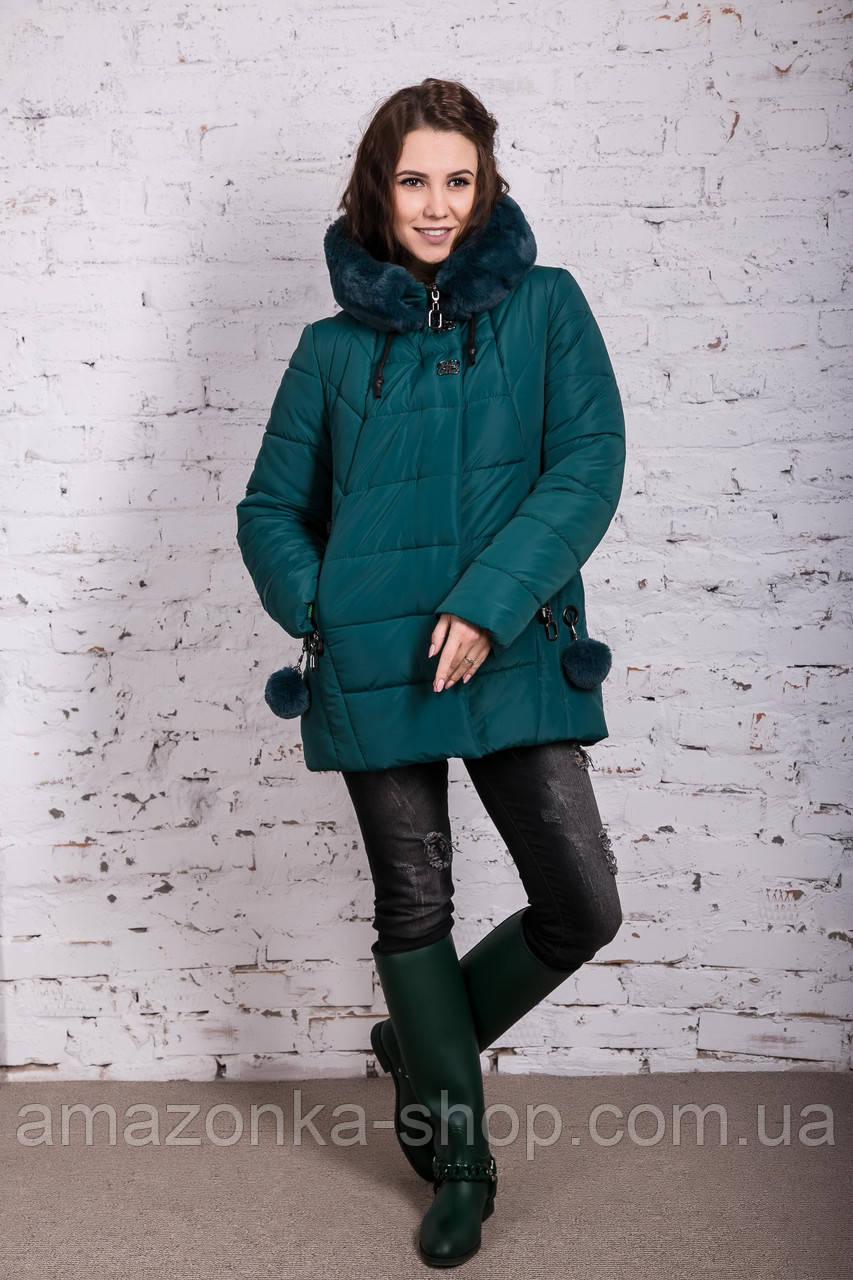 Зимняя куртка с экомехом для женщин модель 2019 - (модель кт-385)