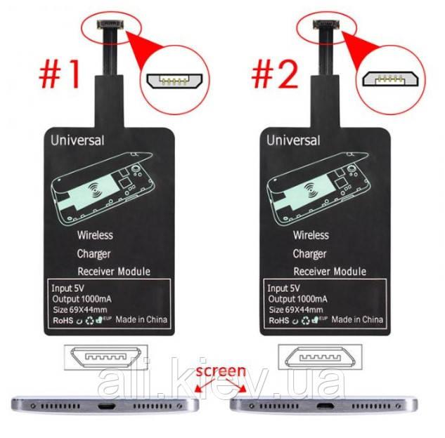 Беспроводная зарядка встраиваемая, приемник плата, мини USB с катушкой QI для телефона планшета павербанка