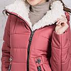 Зимняя куртка на овчине для женщин модель 2019 - (модель кт-389), фото 4