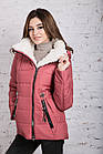 Зимняя куртка на овчине для женщин модель 2019 - (модель кт-389), фото 6
