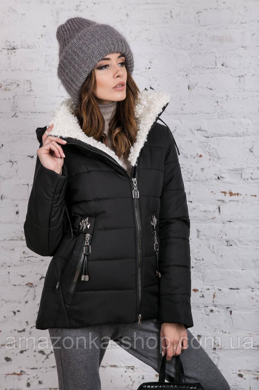 Зимняя куртка на овчине для женщин модель 2019 - (модель кт-389)