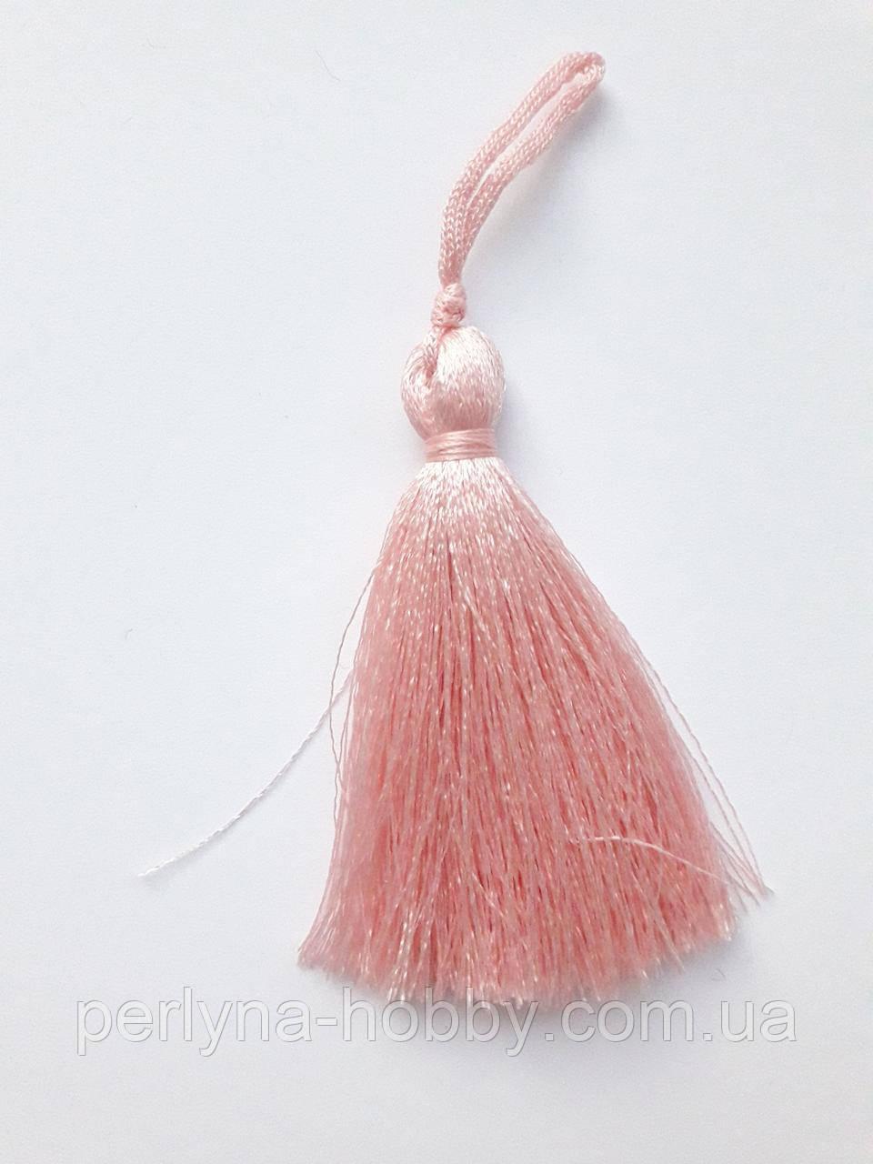 Китиця декоративна мала 7 см ніжно-рожевий, пудра, 1 шт.
