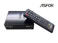 """Комплект ТВ-тюнер Aspor 603 ресивер для цифрового телевидения T2 + Антенна Комнатная T2 """"ZIG-1"""" (5-7 дБ), фото 3"""