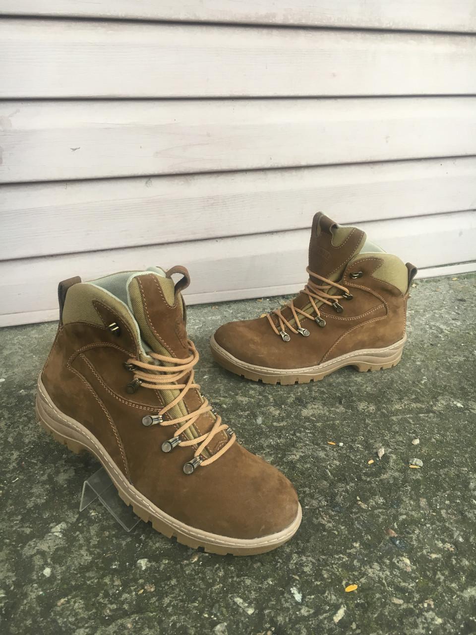Ботинки зимние апачи нубук койот набивной  мех