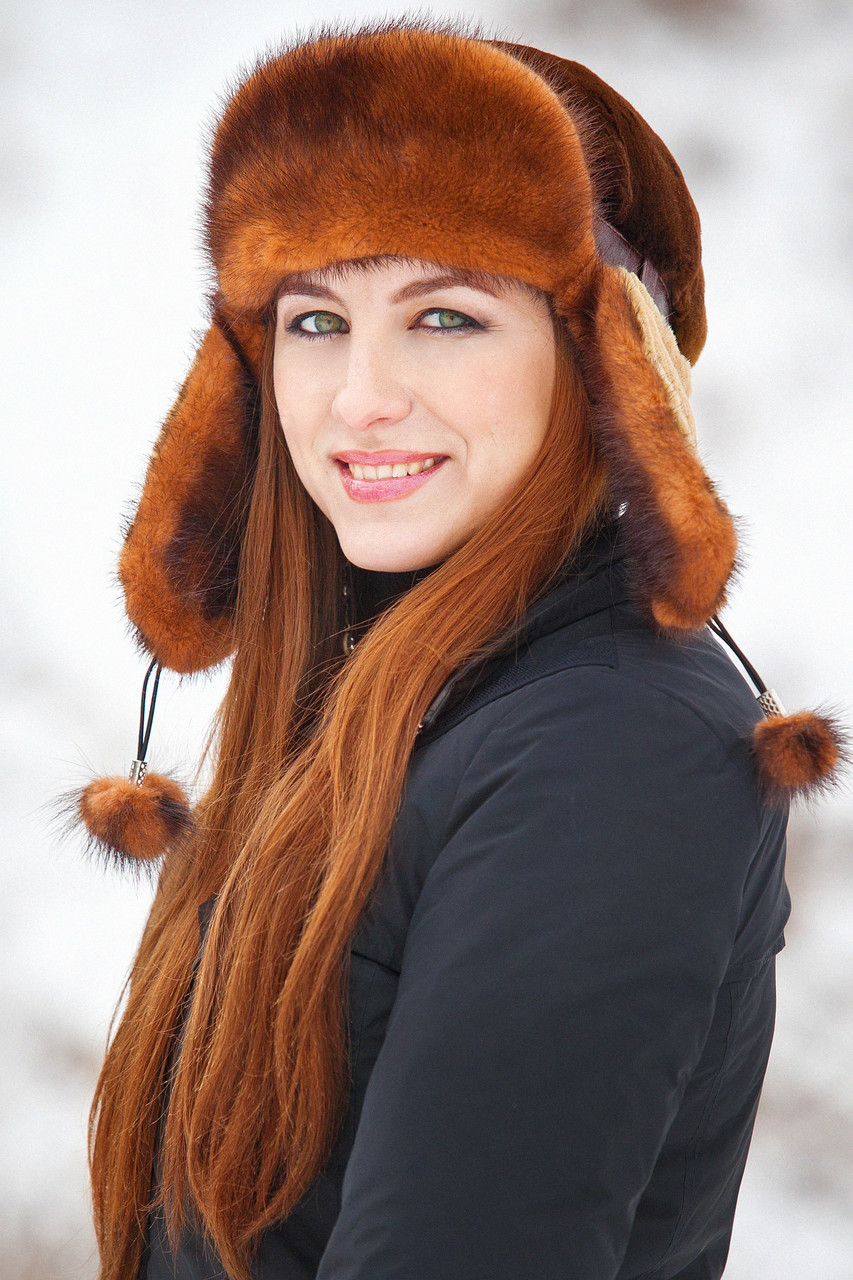 Женская шапка ушанка из меха кролика Рекс с Норкой Yn-31 - Интернет-магазин 09d1d968de777