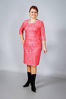 Платье женское коралловое (розовое) оптом от производителя