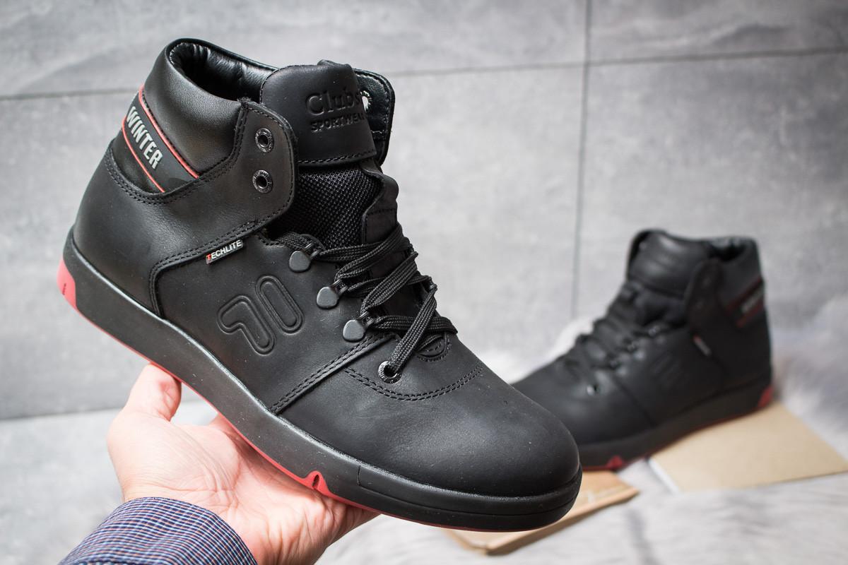 Зимние ботинки  на меху Clubshoes Sportwear, черные (30611) размеры в  2