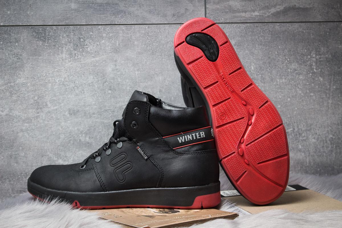 Зимние ботинки  на меху Clubshoes Sportwear, черные (30611) размеры в  4
