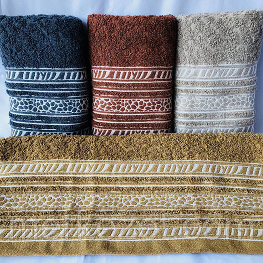 """Полотенце. Махровые полотенца для рук и лица """"Завитушка"""""""