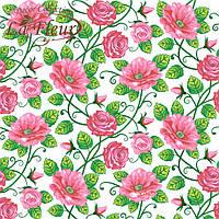"""Столовые салфетки ТМ """"La Fleur"""" Полотно из роз"""