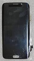 Модуль (сенсор+дисплей) для Samsung G925F Galaxy S6 Edge AMOLED темно-синій