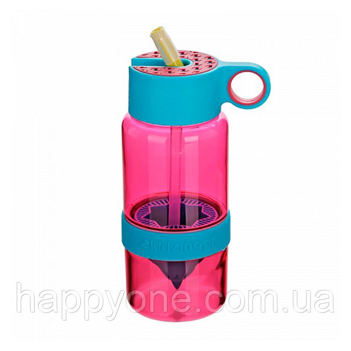 Детская бутылочка для напитков KidZinger (фиолетовая)