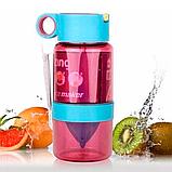 Детская бутылочка для напитков KidZinger (фиолетовая), фото 3