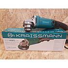 Болгарка Kraissmann 1050-KWS-125E Регулировка оборотов. Угловая шлифмашина Крайсман (УШМ), фото 3