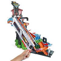 "Трек Хот Вилс серии измени цвет ""Водонапорная Башня"" / Hot Wheels City Ultimate Gator Car Wash, фото 3"