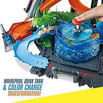 "Трек Хот Вилс серии измени цвет ""Водонапорная Башня"" / Hot Wheels City Ultimate Gator Car Wash, фото 8"