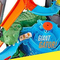 "Трек Хот Вилс серии измени цвет ""Водонапорная Башня"" / Hot Wheels City Ultimate Gator Car Wash, фото 9"