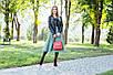 Кожаная сумочка женская 05 красный кайман 01050207, фото 5