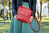Кожаная сумочка женская 05 красный кайман 01050207, фото 6