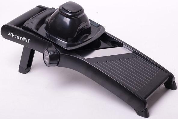 Овощерезка-шинковка Kamille с механическим переключателем насадок, черная