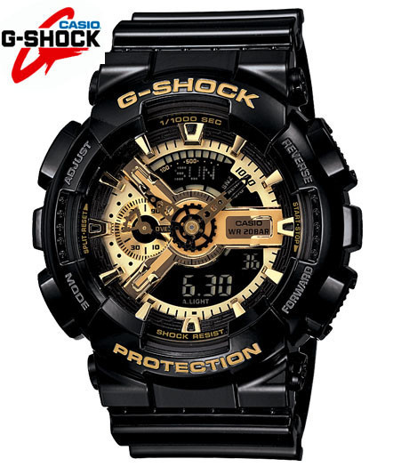 Спортивные наручные часы Casio G-Shock ga-110 Black-Gold  Касио реплика