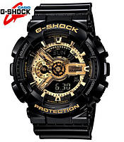 Спортивные наручные часы Casio G-Shock ga-110 Black-Gold  Касио реплика, фото 1