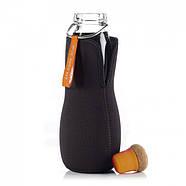 Стеклянная эко бутылка Eau Good Black+Blum (650 мл) оранжевая, фото 2