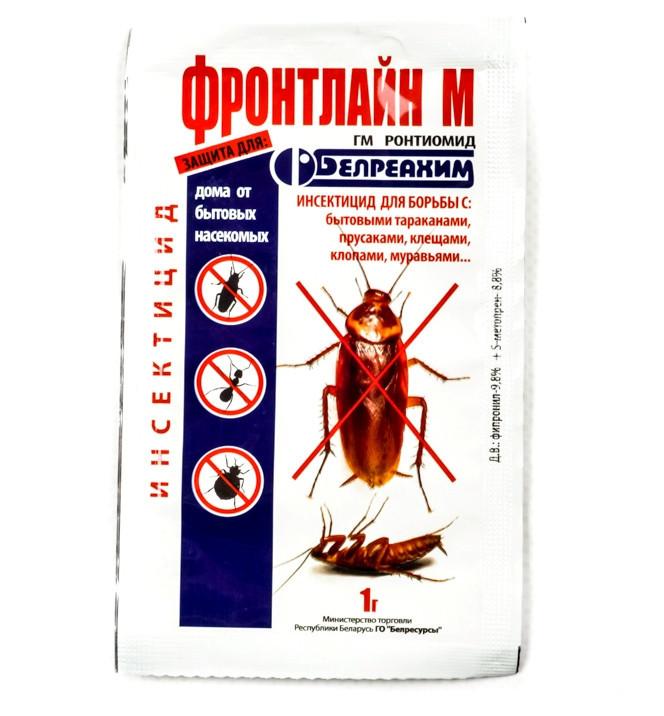 Инсектицид Фронтлайн М, 1г — от бытовых насекомых (тараканы, клещи, клопы)
