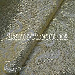 Ткань Парча (золото на молочном)