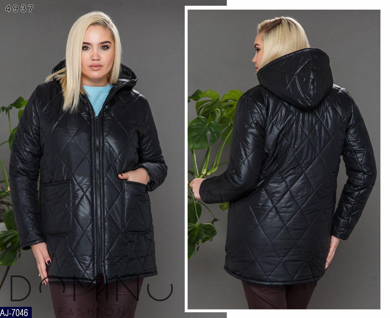 Теплая женская куртка  большого размер  50-52, 54-56, 58-60