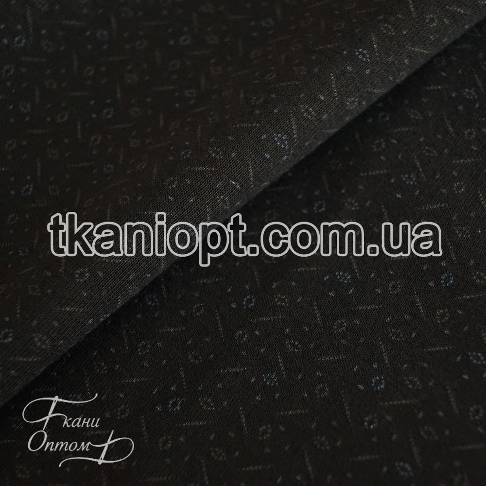 Ткань Трикотаж ангора на меху (черный)