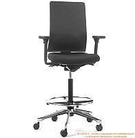 Удобные итальянские кресла для офиса, Сития! - ECLR/M/Y/G - отделка сиденья в натуральной коже премиум, подлокотники нейлон, регулируемые