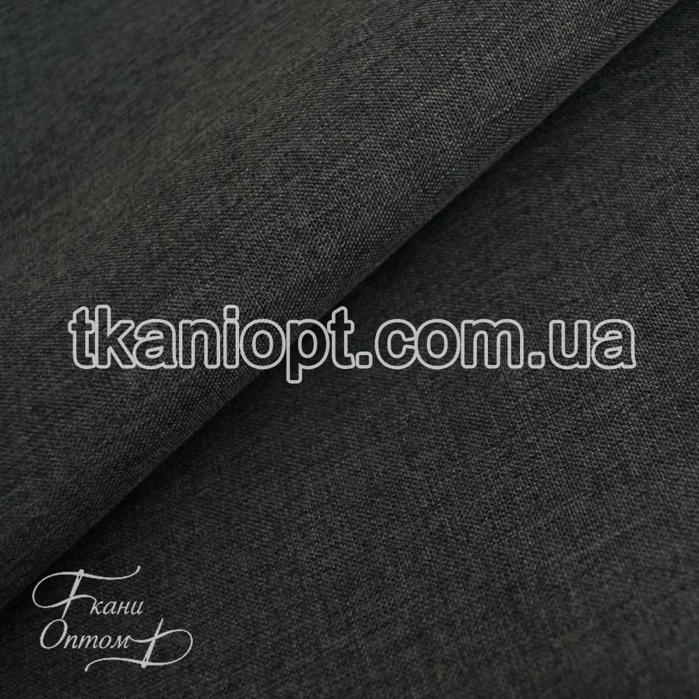 Ткань Плащевка меланж на мембране (темно-серый)