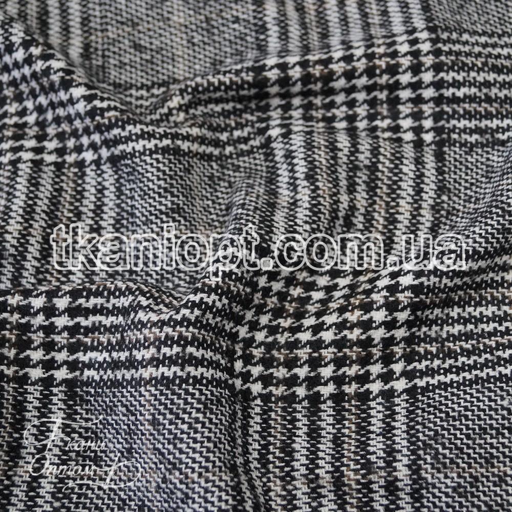a7723044a10a9 Ткань Пальтовая ткань клетка шерсть NEW (черно-белая) представлен в ...