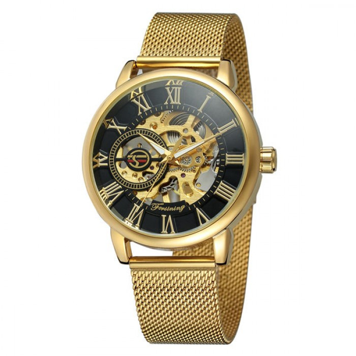 Чоловічі годинники Forsining Rich Gold