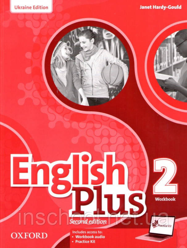 English Plus Second Edition 2 Workbook with access to Practice Kit (Edition for Ukraine) ISBN: 9780194202275