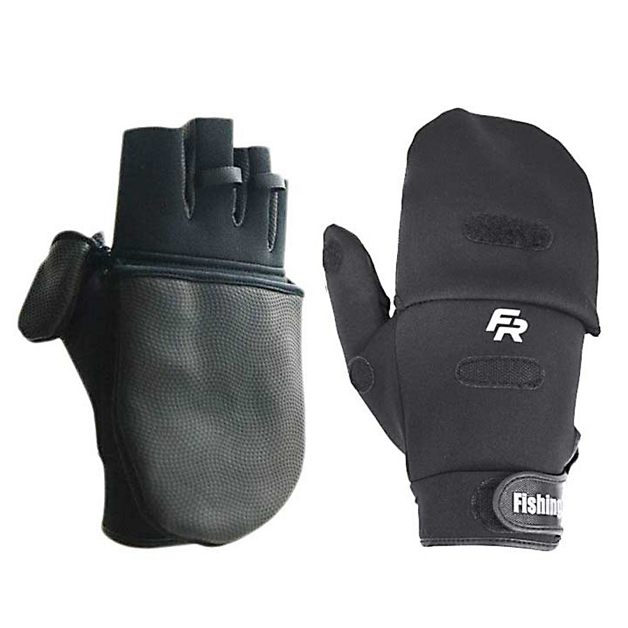 Варежки Fishing ROI с пальцами WK-06 XL цвет- черный