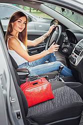 Женская сумка кожаная 06 красный кайман 01060207