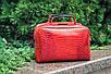 Женская сумка кожаная 06 красный кайман 01060207, фото 7