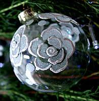 """Новогодний подарок ша  85 мм """"Голубая роза"""""""