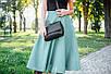 Сумка кожаная женская кросс-боди 09 черный кайман 01090201, фото 4