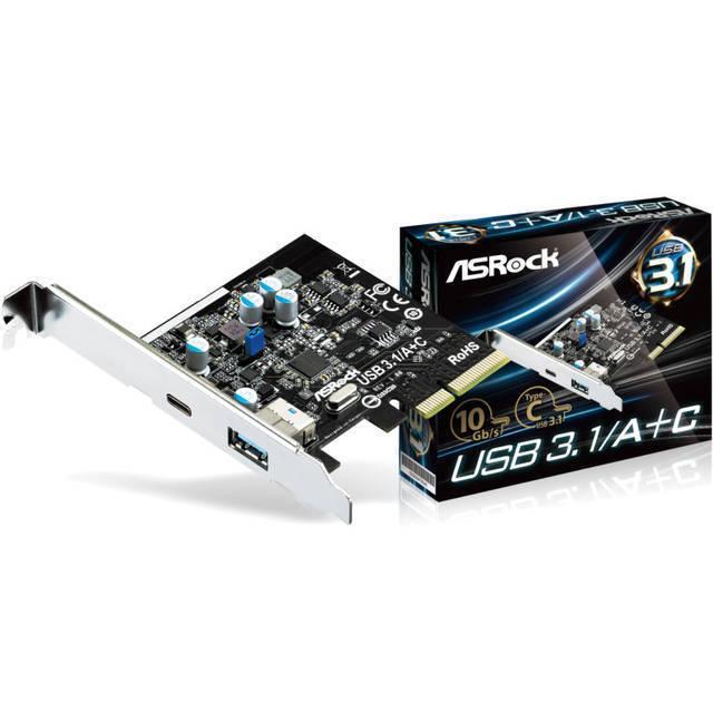 """Плата расширения ASRock USB 3.1/A+C """"Over-Stock"""""""