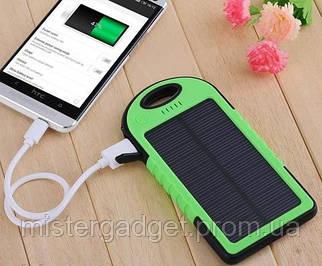 Внешний аккумулятор для телефона Solar +Фонарик Солнечный Powerbank 20000mAh