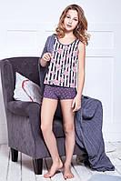 Подростковая пижама для девочки (майка и шорты) Anabel Arto